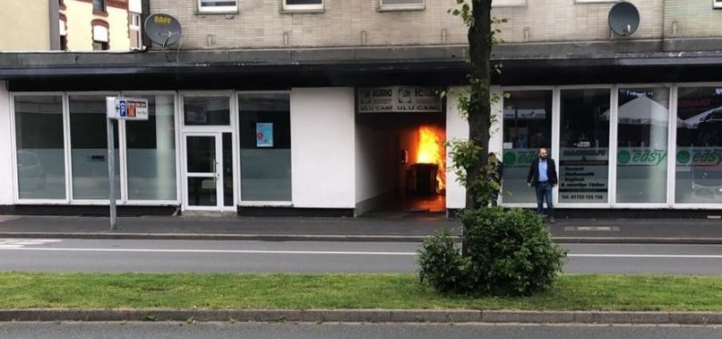 AN UNIDENTIFIED ARSONIST SETS FIRE TO MOSQUE IN GERMANYS HAGEN