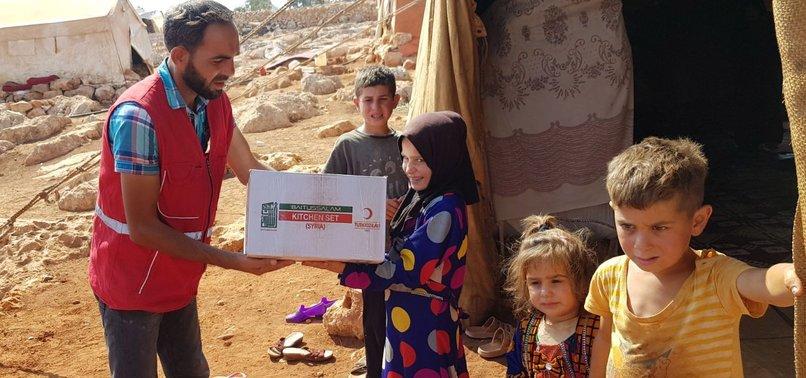 TURKISH RED CRESCENT SENDS AID TO SYRIAS IDLIB,LATAKIA
