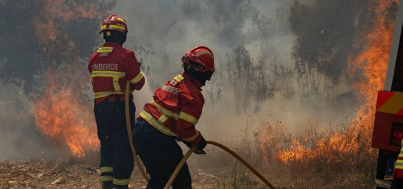 FIREFIGHTERS BATTLE WILDFIRE IN PORTUGAL, 31 PEOPLE HURT
