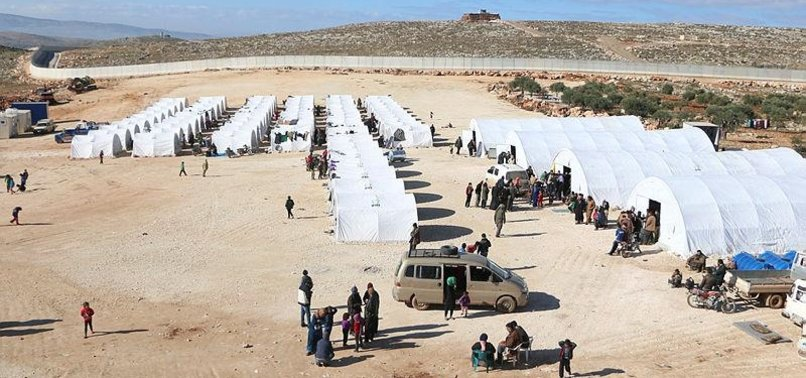 TURKISH AID AGENCY PROVIDES TENTS FOR DISPLACED SYRIANS
