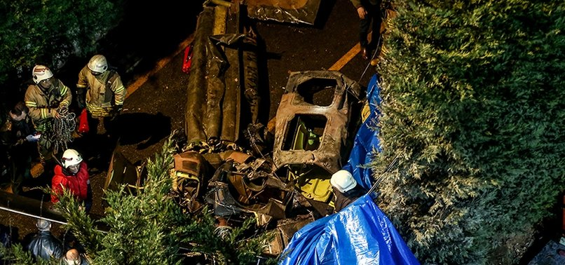 FOUR TURKISH SOLDIERS MARTYRED IN HELICOPTER CRASH IN ISTANBULS ÇEKMEKÖY DISTRICT