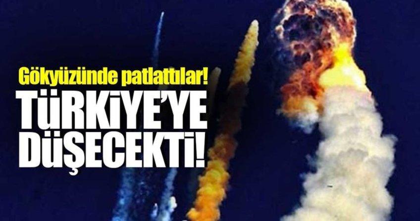 Yolundan sapan uydu Türkiyeye düşecekti, havada patlattılar!