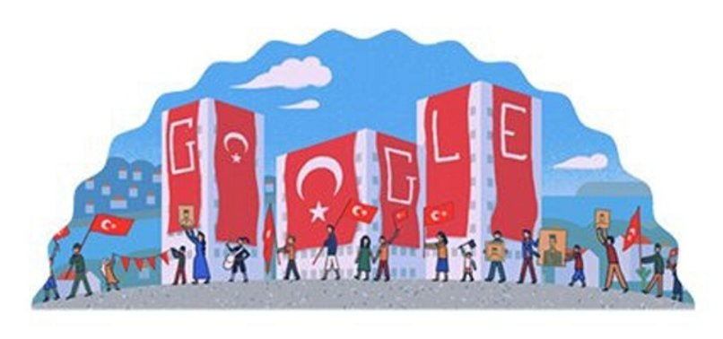 GOOGLE DOODLE MARKS TURKEYS 97TH REPUBLIC DAY