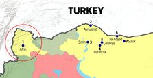 Afrin's location is considered as very strategic in Syria