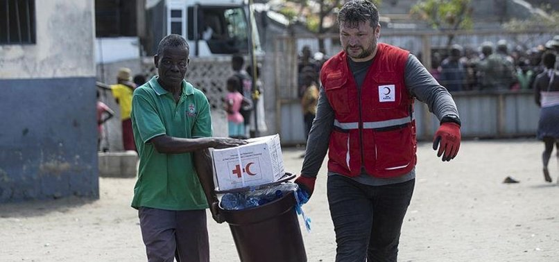 TURKISH AID AGENCY SENDS FOOD TO CYCLONE-HIT MOZAMBIQUE