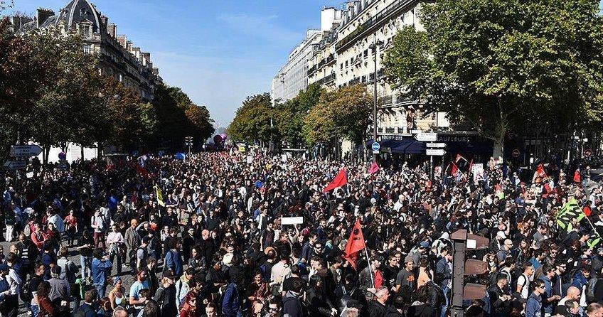 Fransada ilkbahar grev ve gösterilerle başlıyor