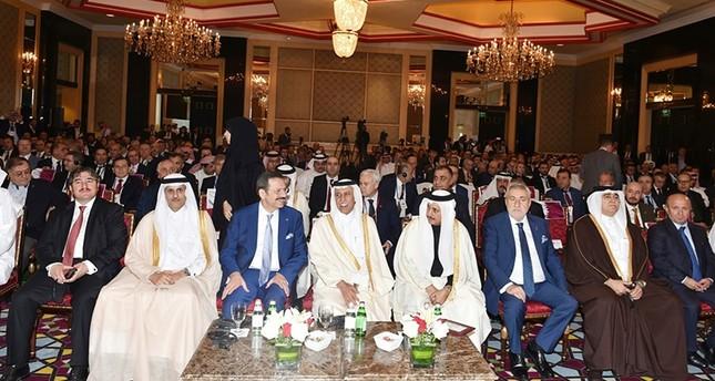 أمير قطر يستقبل رئيس اتحاد الغرف التجارية التركية