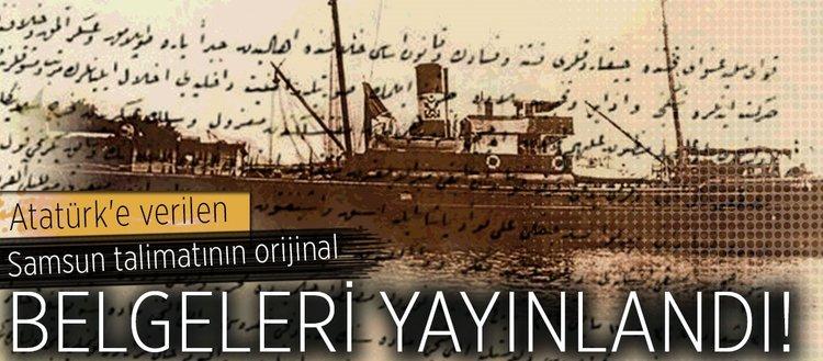 Atatürk'e verilen Samsun talimatının orijinal nüshası