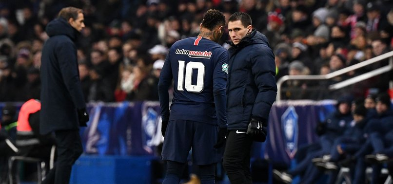 PSG STRIKER NEYMAR OUT FOR ABOUT 10 WEEKS WITH FOOT INJURY