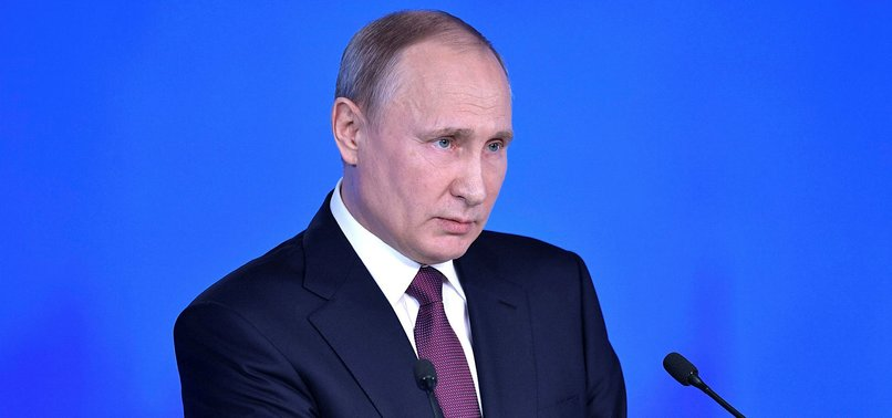 VLADIMIR PUTIN, BEFORE ELECTION, UNVEILS NEW NUCLEAR WEAPONS TO COUNTER WEST