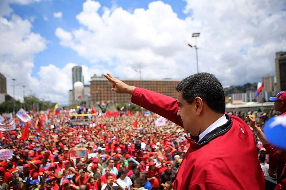 President Nicolas Maduro during a rally in Caracas on Sept. 1.