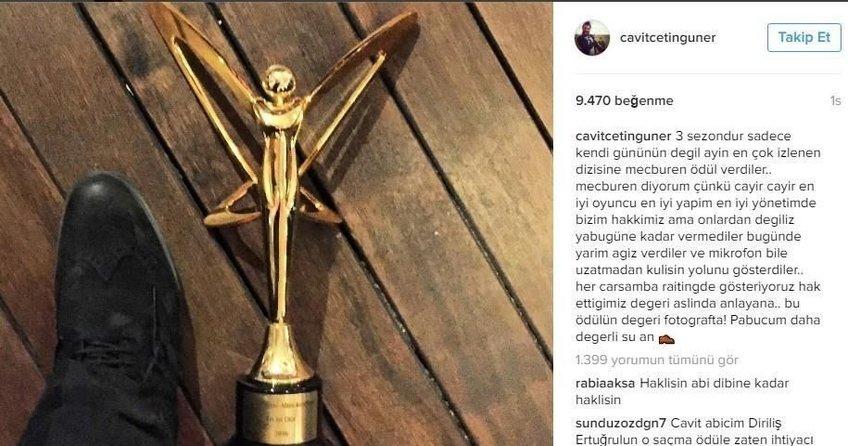 Altın Kelebek töreninde ödül iade ettiren skandal