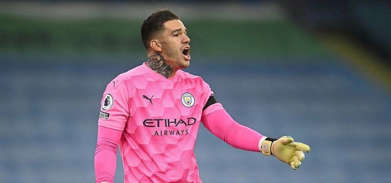 MAN CITY KEEPER EDERSON PUTS HAND UP FOR PENALTY DUTY