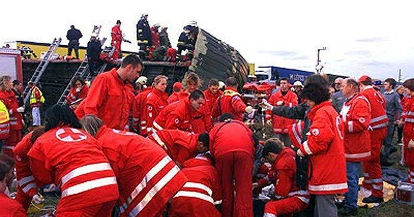 Avusturyada tren kazası: 54 yaralı