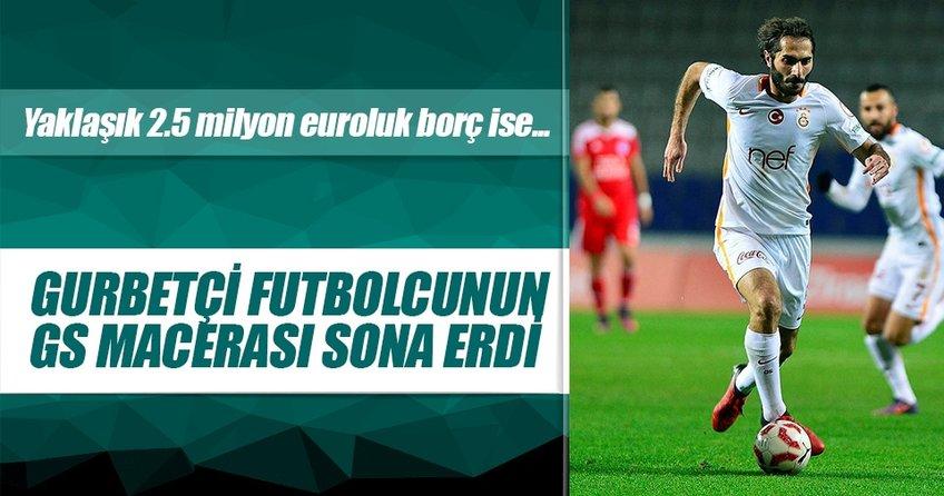 Gurbetçi futbolcu Galatasaydan 2.5 milyon euro alacaklı