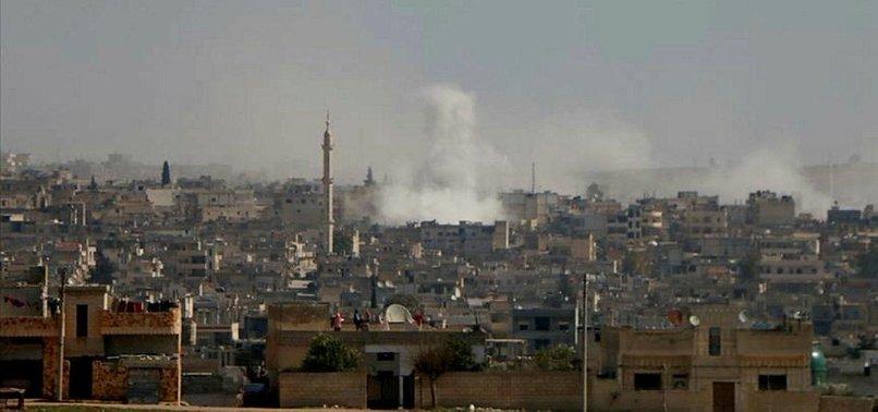 REGIME AIRSTRIKE INJURES 5 CIVILIANS IN SYRIAS IDLIB