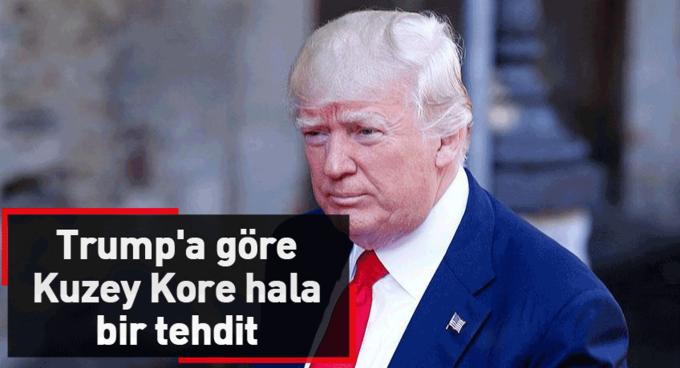 Trumpa göre Kuzey Kore hala olağanüstü bir tehdit