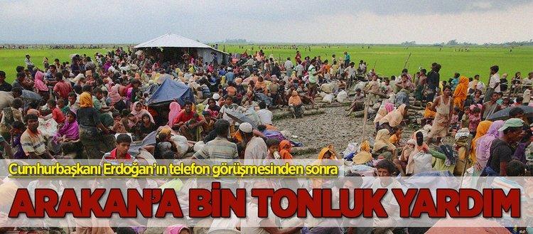 Arakan'a bin tonluk yardım