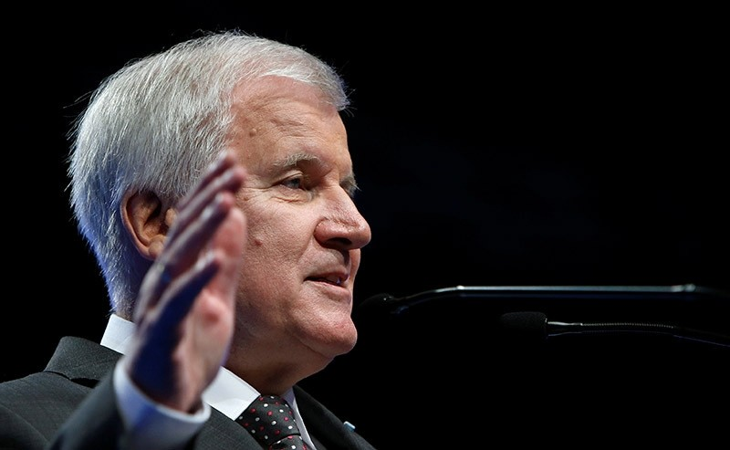 Bavarian Prime Minister and head of the Christian Social Union (CSU) Horst Seehofer speaks during a party congress in Munich, Germany. (Reuters Photo)
