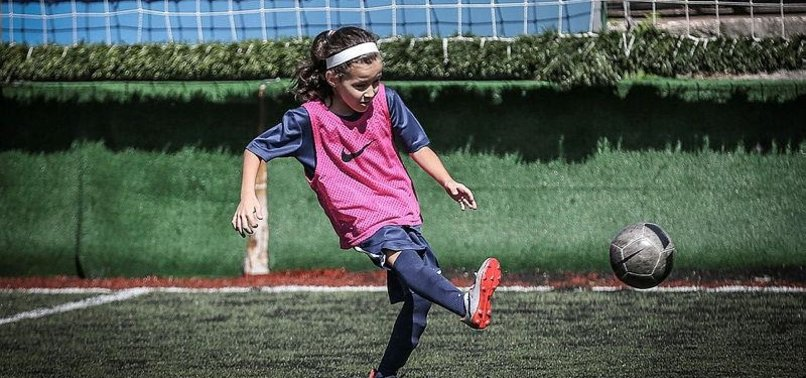 TURKISH MINOR DEFIES GIRLS CANT PLAY FOOTBALL CLICHE