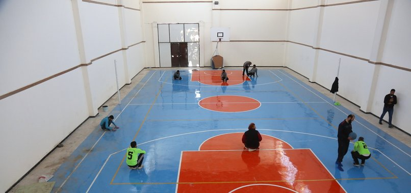 TURKISH AID AGENCY HOLDS GOALBALL MATCHES FOR SYRIANS