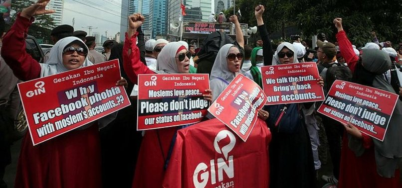INDONESIAN MUSLIMS PROTEST FACEBOOK FOR BLOCKING ISLAMIST ACCOUNTS