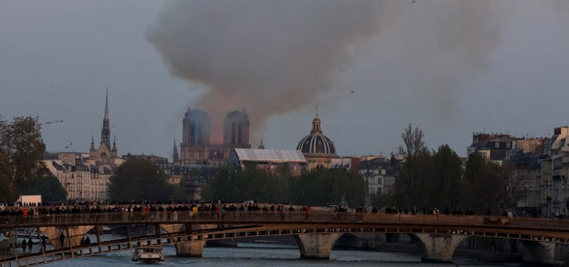 FIRE RAVAGES NOTRE-DAME CATHEDRAL IN PARIS, SPIRE COLLAPSES