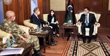 Turkish defense minister, military chief visit Libya