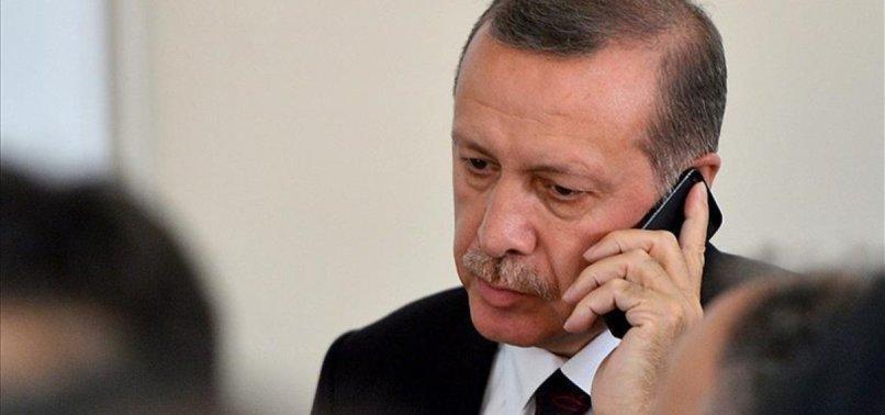 ERDOĞAN HOLDS PHONE CALLS WITH SAUDI KING SALMAN, PALESTINES ABBAS