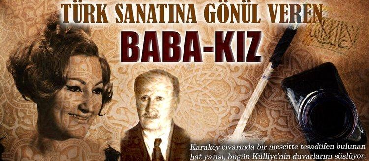 Türk sanatına gönül veren baba-kız