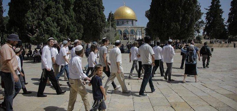 DOZENS OF JEWISH SETTLERS STORM JERUSALEM'S AQSA COMPLEX