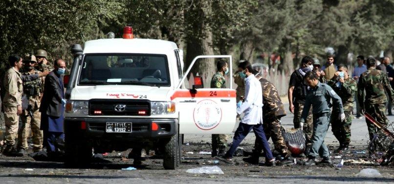 TWIN BLASTS NEAR AFGHAN HOSPITAL KILL TWO, LEAVING EIGHT INJURED