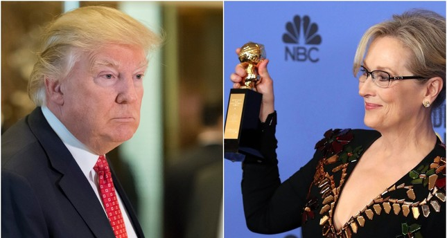 Donald Trump calls Meryl Streep 'overrated' after she gets political in Golden Globes speech