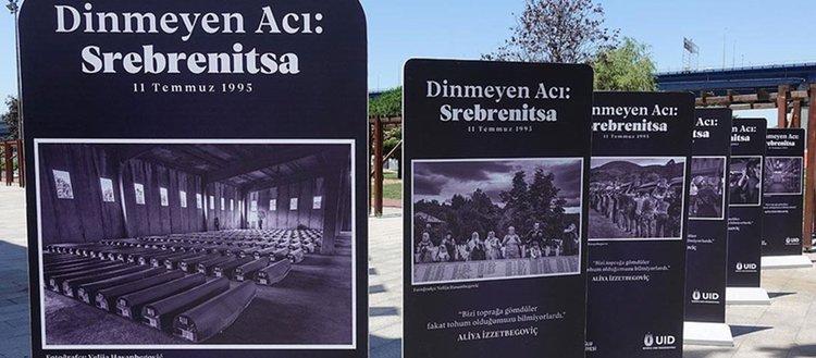 'Dinmeyen Acı: Srebrenitsa' sergisi, Hasköy Kültür ve Gösteri Merkezi'nde ziyarete açıldı