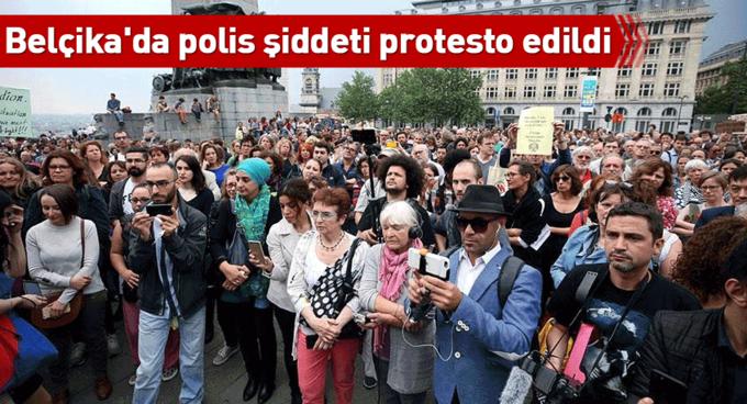 Belçikada polis şiddeti protesto edildi