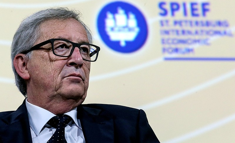 European Commission President Jean-Claude Juncker attends a session of the St. Petersburg International Economic Forum 2016 (SPIEF 2016) in St. Petersburg, Russia (Reuters Photo)