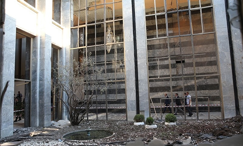Turkish Parliament building in Ankara badly damaged following the failed coup attempt on July 15, 2016  (AA Photo)