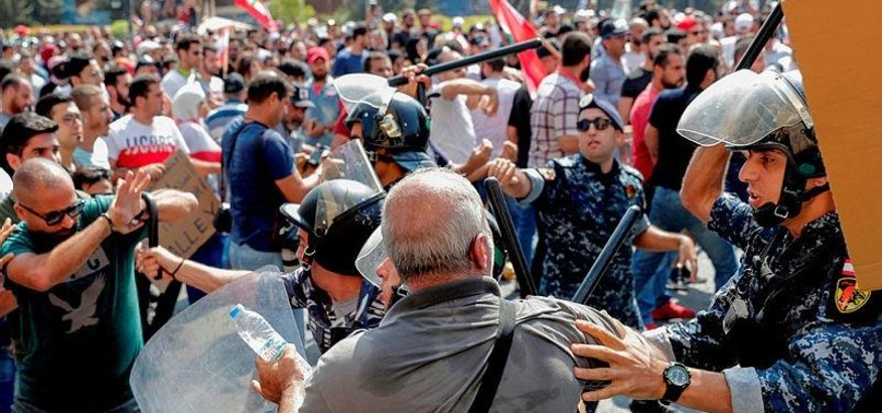 PROTESTS IN LEBANONS CAPITAL OVER WORSENING ECONOMIC CRISIS