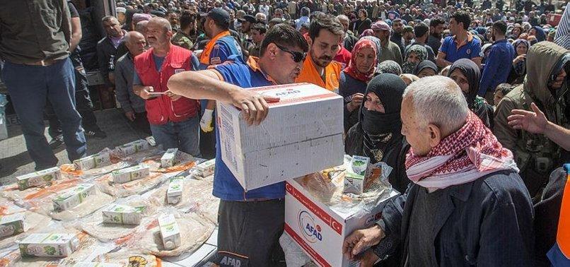 TURKEYS AFAD HANDS OUT HUMANITARIAN AID IN SYRIAS TERROR-FREE REGION