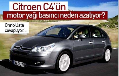 Citroen C4'ün motor yağı basıncı neden azalıyor?
