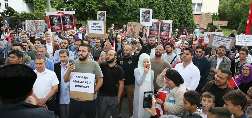 VIOLENCE AGAINST ROHINGYA MUSLIMS PROTESTED IN BERLIN