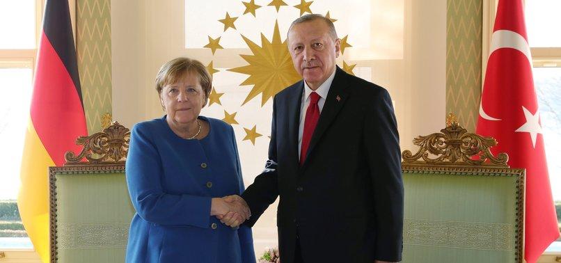 TURKISH, GERMAN LEADERS DISCUSS VIRUS, SITUATION IN SYRIA, LIBYA