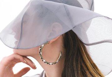 Büyük Şapka & Halka Küpe