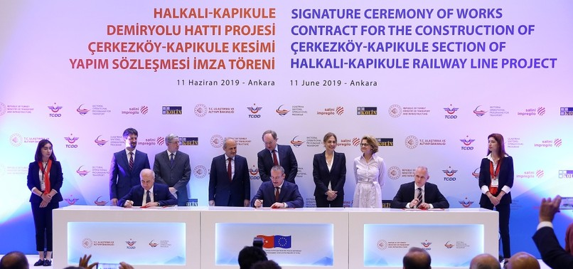 TURKEY, EU INK DEAL TO BUILD SECTION OF FLAGSHIP RAILWAY PROJECT