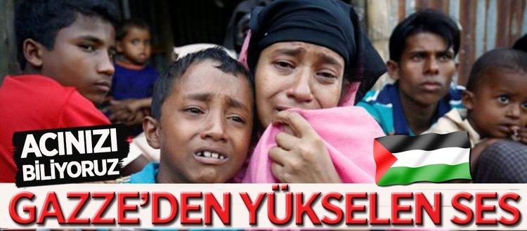 Arakan'daki zulme Gazze'den tepki