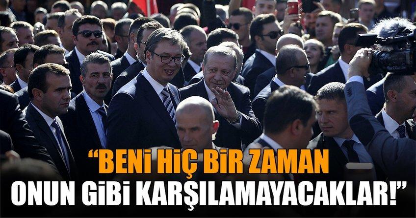 Sırbistan'ın ayakta karşıladığı Türk