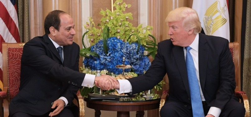 TRUMP CALLS EGYPT'S SISSI HIS 'FAVORITE DICTATOR', REPORT SAYS