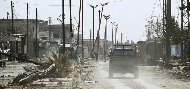AID CONVOY QUITS SYRIA ENCLAVE AS REGIME PRESSES ONSLAUGHT