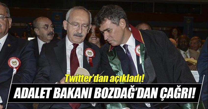 Bozdağ: Kılıçdaroğlu ve Feyzioğlu adli yıl açılışına katılmalı