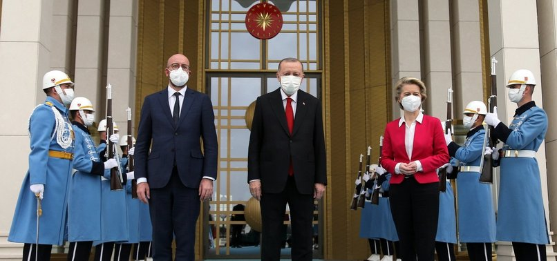 ERDOĞAN RECEIVES EU CHIEFS TO DISCUSS BILATERAL TIES